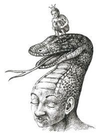 Schlange, Skurril, Zeichnung, Figur
