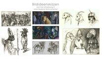 Vision, Figur, Zeichnung, Surreal