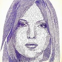 Figural, Portrait, Gesicht, Frau