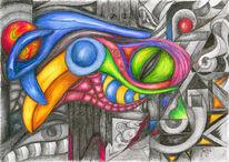 Surreal, Buntstiftzeichnung, Polychromos, Natur