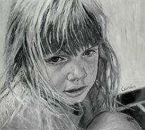 Schwarz weiß, Malerei, Acrylmalerei, Figural