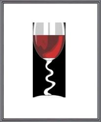 Grafik, Weinglas