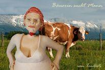 Martina fass, Kuh, Skulptur, Bäuerin sucht mann