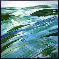Malerei, Landschaft, Wasser, Fließen
