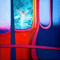 Kalt, Malerei, Wasser, Schwimmen