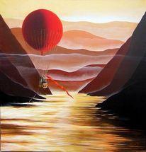 Malerei, Landschaft, Fahrt