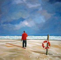 Blau, Sand, Landschaft, Rettungsreifen