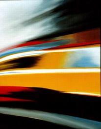 Gelb, Schwarz, Taxi, Malerei