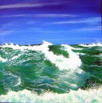 Meer, Wasser, Grün, Welle
