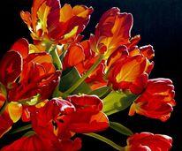 Tulpen, Malerei, Ölmalerei, Rot