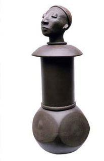Vase, Afrika, Skulptur, Gefäß