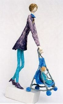 Figur, Keramik, Modellieren, Menschen