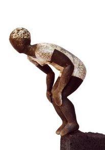 Badekappe, Keramik, Figural, Keramikskulptur