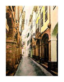 Menorca, Stadt, Ciudadela, Häuserfront