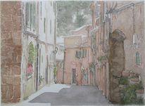 Grafik, Tuschmalerei, Aquarellmalerei, Mallorca