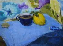 Bonbon, Tee, Zitrone, Impressionismus