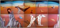 Empfangshallen, Malerei, Surreal, Ideal