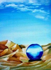 Wüste, Malerei, Landschaft, Himmel