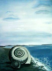 Strand, Himmel, Malerei, Landschaft