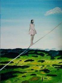 Himmel, Landschaft, Seiltanz, Malerei