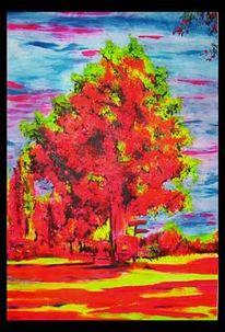 Neon, Kiekebusch, Landschaft, Malerei