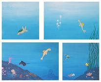 Malerei, Figural, Unterwasser