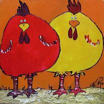 Tiere, Acrylmalerei, Malerei