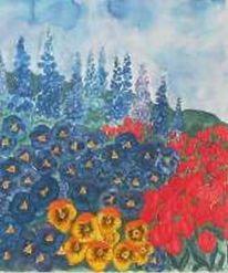 Grafik, Blumen, Aquarellmalerei, Stiefmütterchen
