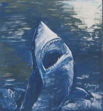 Orka, Tiere, Wasser, Malerei