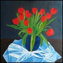 Malerei, Landschaft, Tulpen