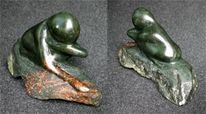 Speckstein, Skulputer, Skulptur, Zögern