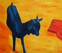 Ziegen, Tiere, Zicklein, Malerei