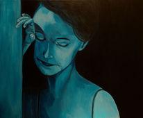 Gedanken, Abend, Blau, Frau