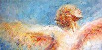 Übersinnlich, Blau, Engel, Expressionismus