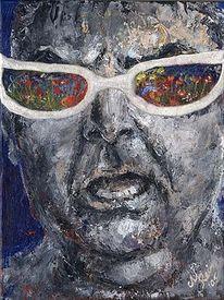 Expressionismus, Menschliche, Malerei, Neid