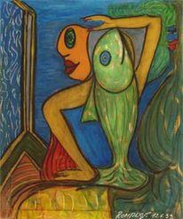 Expressionismus, Malerei, Fisch, Menschen