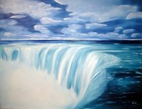 Wasser, Malerei, Himmel, Landschaft