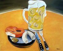 Frühstück, Bier, Brezen, Brotzeit