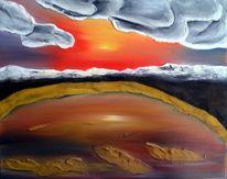 Abend, Götter, Wolken, Malerei