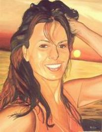 Portrait, Figural, Sonnenuntergang, Urlaub