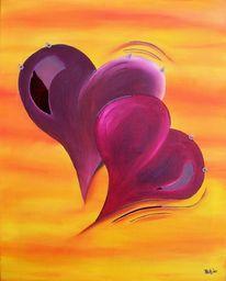Herz, Magenta, Dekoration, Beleuchtung