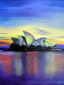 Landschaft, Oper, Sydney, Malerei