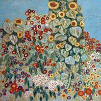 Blumen, Malerei, Replik, Landschaft