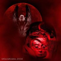Schlange, Lilith, Digital, Kuss