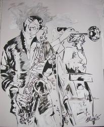 Jazz, Arbeiten, Malerei