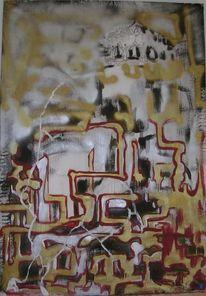 Malerei, Abstrakt, Rapunzel