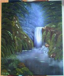 Landschaft, Blau, Wasser, Wasserfall