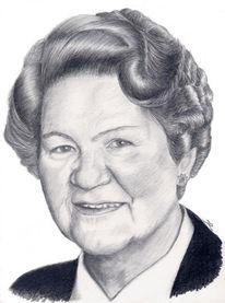 Oma, Portrait, Zeichnung, Zeichnungen