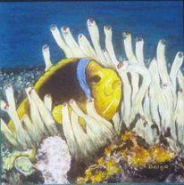 Malerei, Figural, Ölmalerei, Fisch