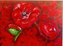 Malerei, Landschaft, Ölmalerei, Rouge